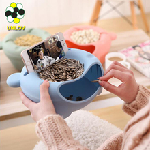 2017 newest mobile phone holder Plastic food Storage box Lazy Phone holder