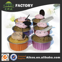 Colorful disposable egg tart foil container for bakery