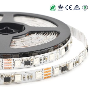 Double layers PCB 10mm 12v 60pixel magic color running effect rgb led strip light