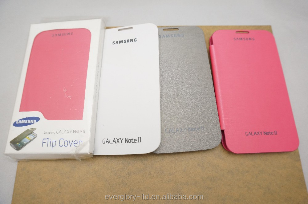 Fashion Bookstyle Leather Case for Samsung Note 2 with high quality