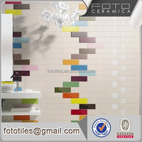 Colorful inkjet print matte polished ceramic subway tiles 100mm x 300mm