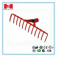 Adjustable garden hand leaf rake