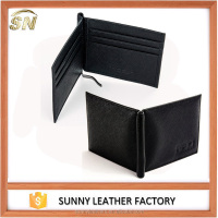 Men's Lambskin Leather Saffiano Pattern wallets, soft leather money clips