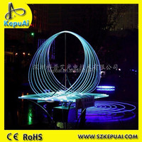 Fabulous side glow fiber optic outdoor landscape light with visual arts design