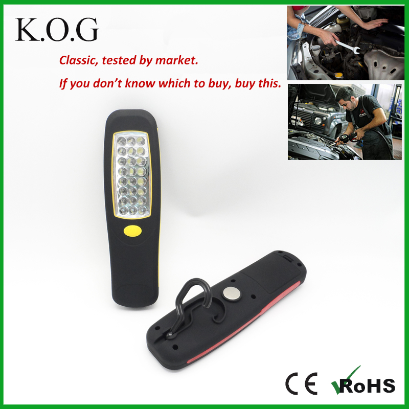 Hand Held Portable Cordless LED Work Light with Swivel Hook