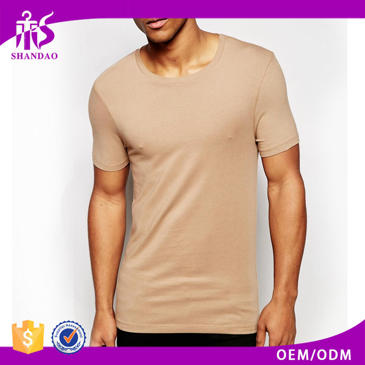 Shandao custom summer short sleeves solid color gym wear bodyduilding blank 180gsm 95 cotton 5 spandex t shirts for man