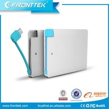 Pocket size li-ion battery mobile power bank supply high capacity