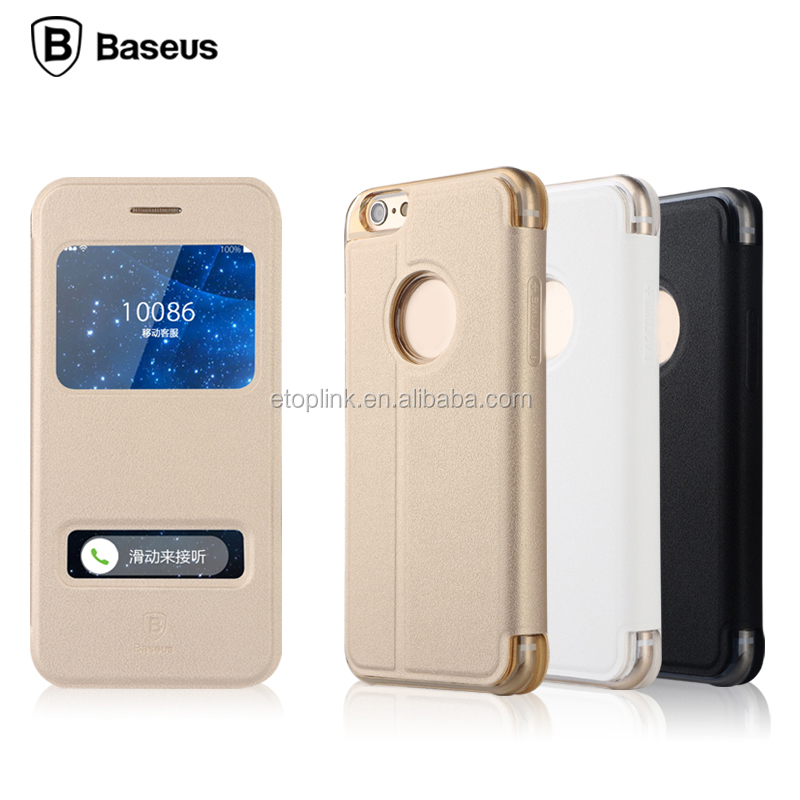 BASEUS BASEUS Smart Clear Window Hybrid dot view raised phone case for iphone 6 6s Smart Slim Case Cover