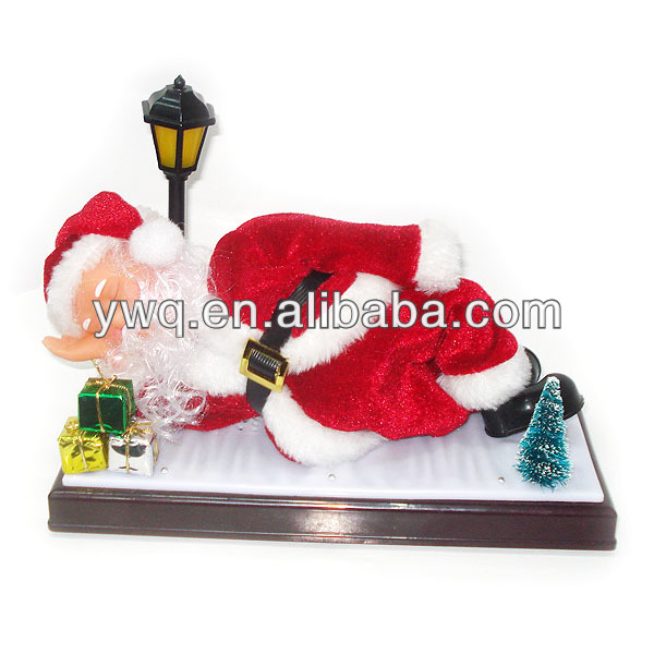 Sleeping Santa Holiday Living santa outdoor plastic santa claus