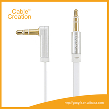 10 Feet Right Angle 3.5mm Male to Male Gold Plated Car Stereo 3.5MM Custom AUX Cable