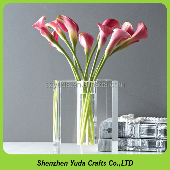 Drop square box transparent acrylic imitation crystal glass vase The water plant cylinder
