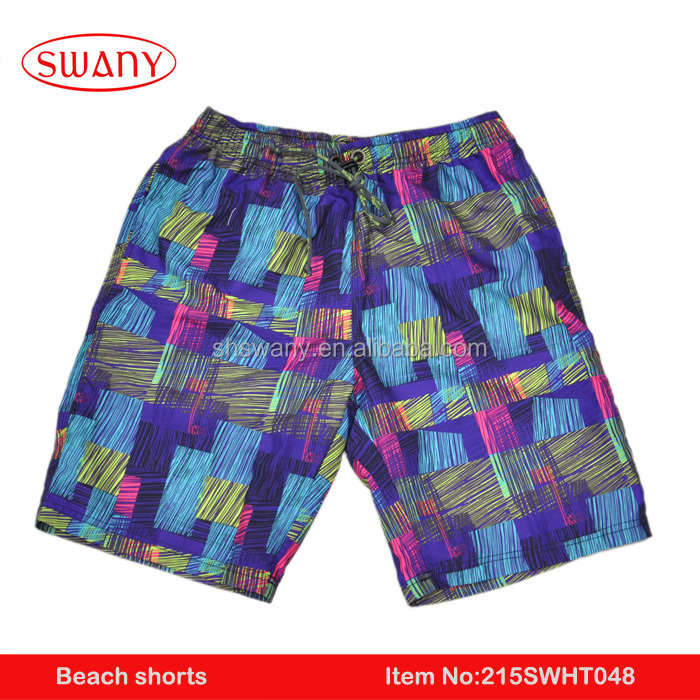 2016 summer fashion 100% polyester beach wrap pants with pocket hot men beach shorts
