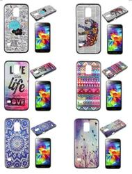 Quote Be Free & Various Birds Embossed Back Hard Cover for Galaxy S5 Mini