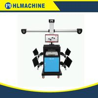 4 wheel aligner with 3D camera space wheel alignment