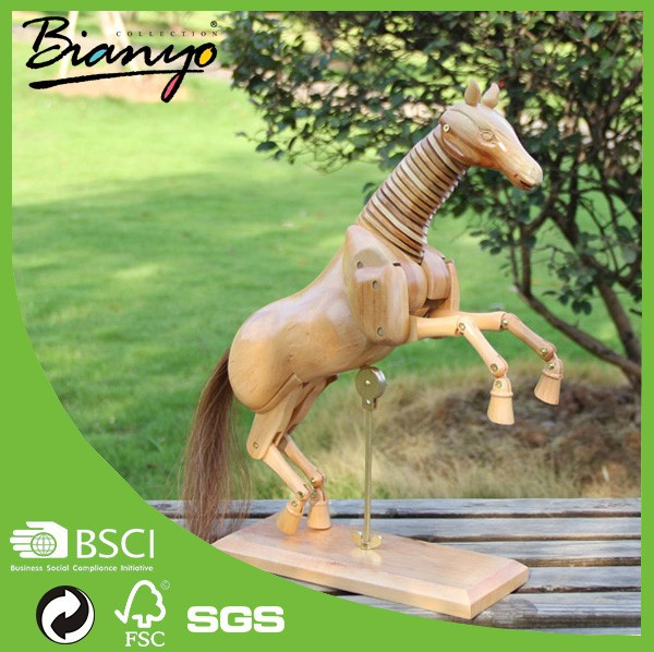Wholesale horse manikin, small animals wood craft, Animal Manikin for House Decoration Made in China
