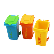 plastic mini desktop trash can pen holder