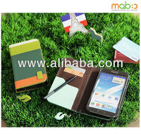 Genuine Leather diary case for Galaxy Note 2