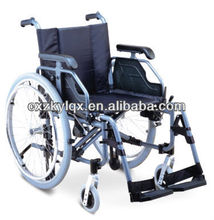 pneumatic rear wheel,solid castor,aluminum folding wheelchair