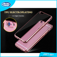 High quality soft electroplating TPU case for iphone 6