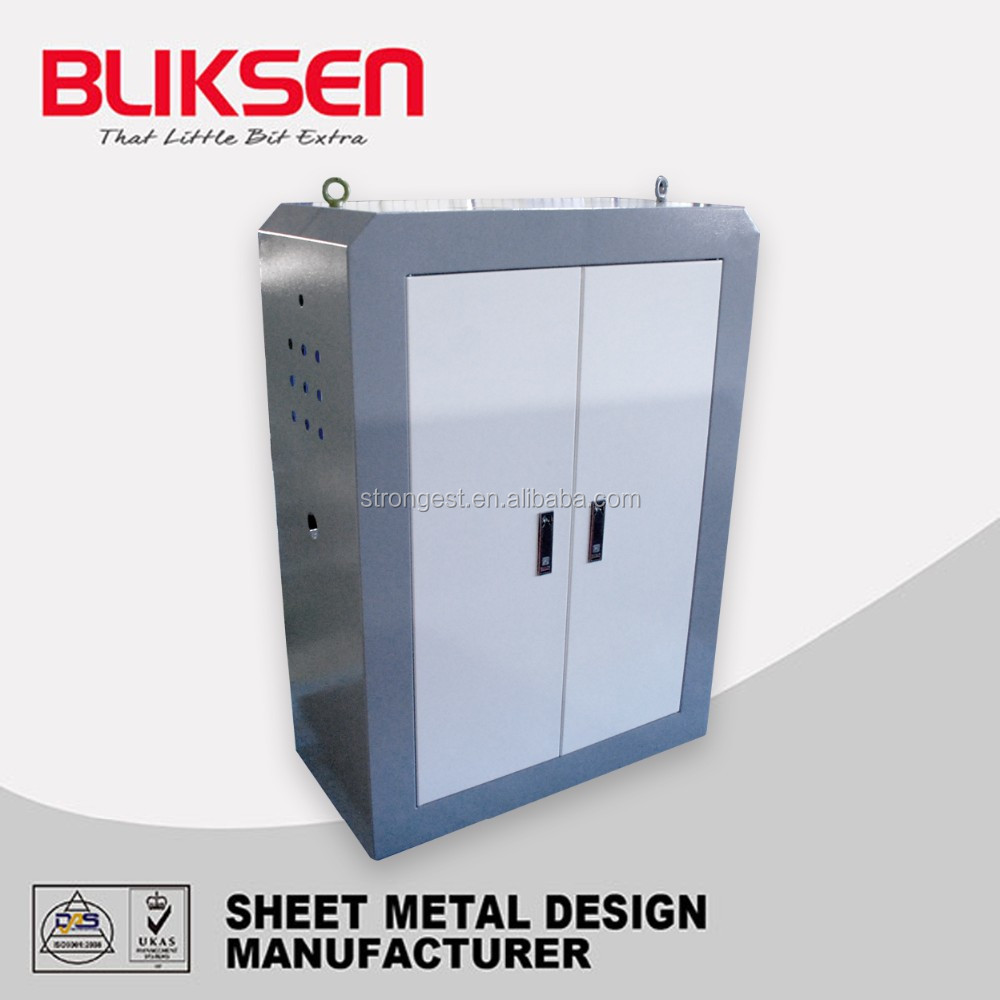 Outdoor metal electrical enclosure distribution cabinets