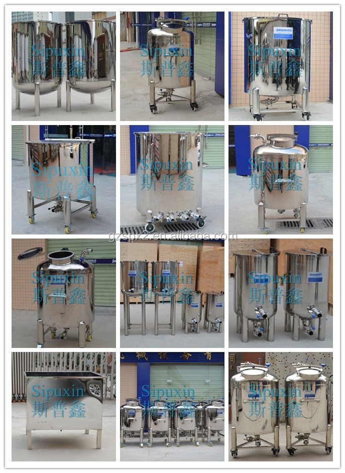 Durable stainless steel storage container, liquid detergent storage tank from China