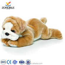Hot selling plush dog toys sleeping bulldog cuddly children animal toy stuffed english bulldog puppies