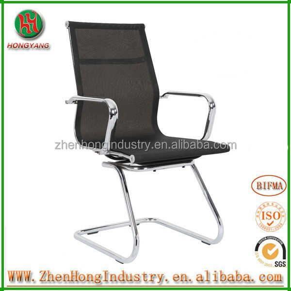 bw staff chair/swivel office chair no wheels/ metal frame office