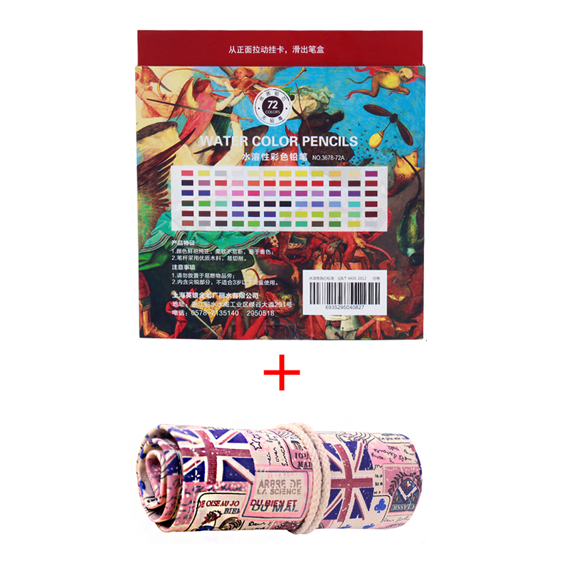 School Stationery Supply 72 Colored Pencil Watercolor HERO Drawing Colored Pencil Set With A Canvas Pencil Case