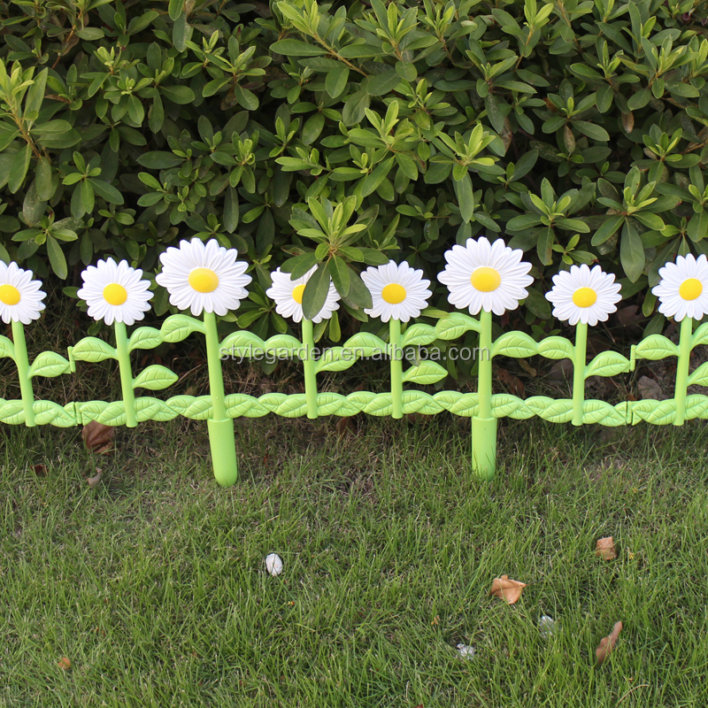 Decorative Border Economic Diy Daisies Garden Fence