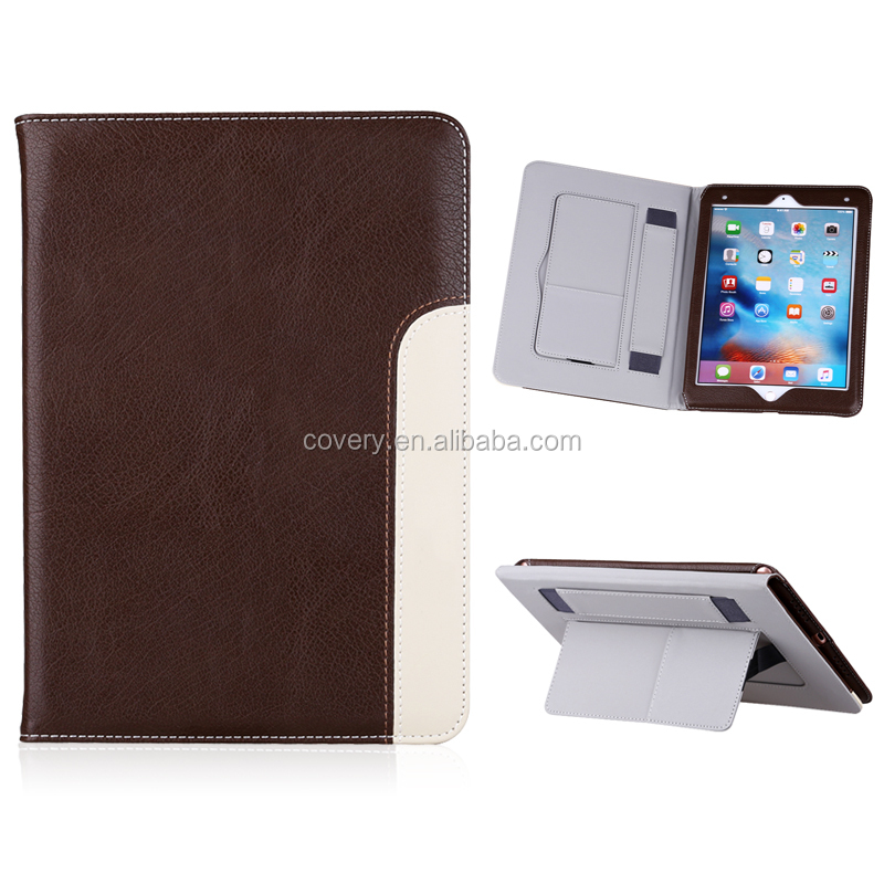 High quality genuine leather case for ipad mini case, tablet case for ipad mini 4