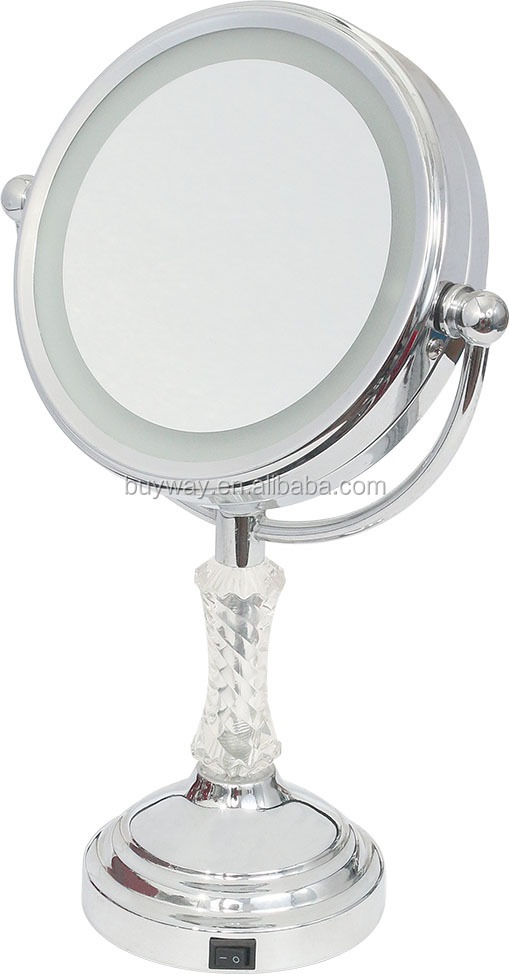 LED Table Makeup Mirror Light with Chrome-plated Finish, Made of Iron/Brass, 6 Inches