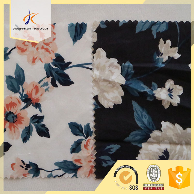 OEM in stock digital printing in cotton fabric, floral style cotton woven fabric, 2017new flower