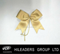 Polyester Gold Sparkle Satin Ribbon Bow
