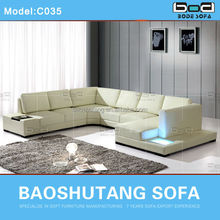 Modern and hot selling Italy leather sofa import from china guangzhou C035