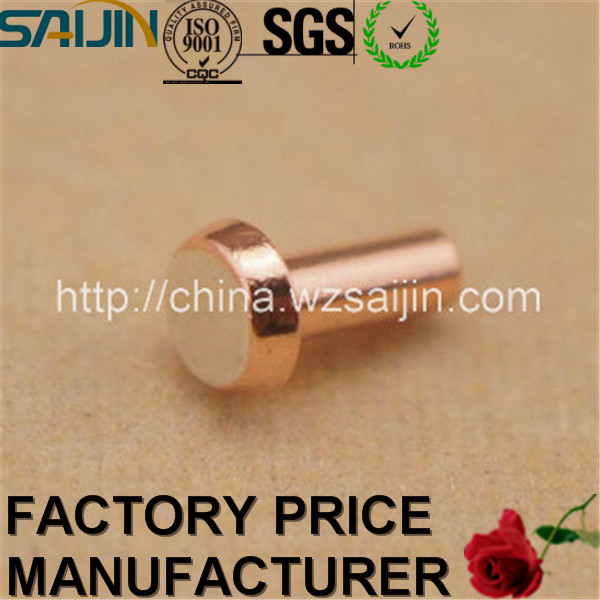 China Manufacturer Silver Contact Metal Pins Copper Thimble