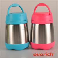 Custom logo office vacuum insulated double wall stainless steel lunch box