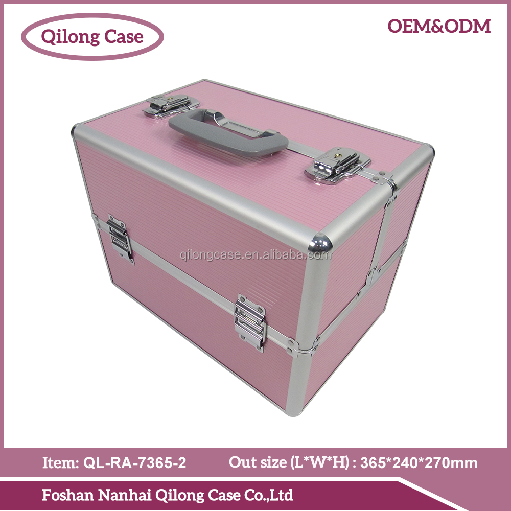 Quality guarantee pink cheap makeup bags and cases