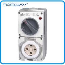 SAA 50A/500V 4 Poles Industrial Water-resistant Electrical rcd socket