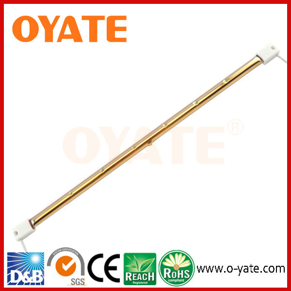 Gold coated infrared heat lamp ,quartz infrared heating element