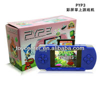 new hot selling 2.7 inch PYP pocket handheld game player/consoles with 9999 good games built in+TV out function