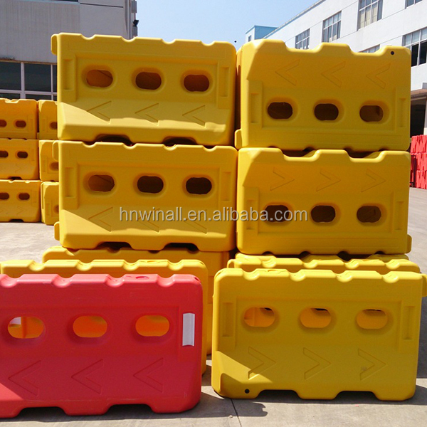 Plastic traffic safety road block for sale