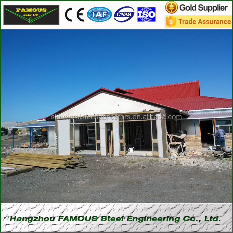 High quality steel structural buildings prefab tiny house easy install prefab house