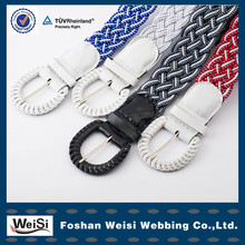 Wholesale Fashion Men Braided Fabric Belt With PU Pin Buckle