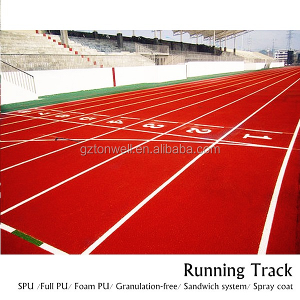 Polyurethane binder pu running track surface for training track