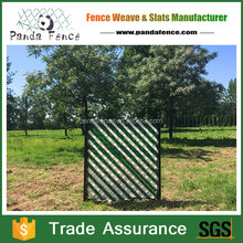 Green color pvc striped screen fence for Welded Wire Panels