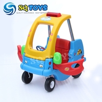 Factory wholesale new security 4 wheels children car toys for kids plastic