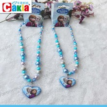 lacie heart kids Frozen resin charm latest design beads necklace