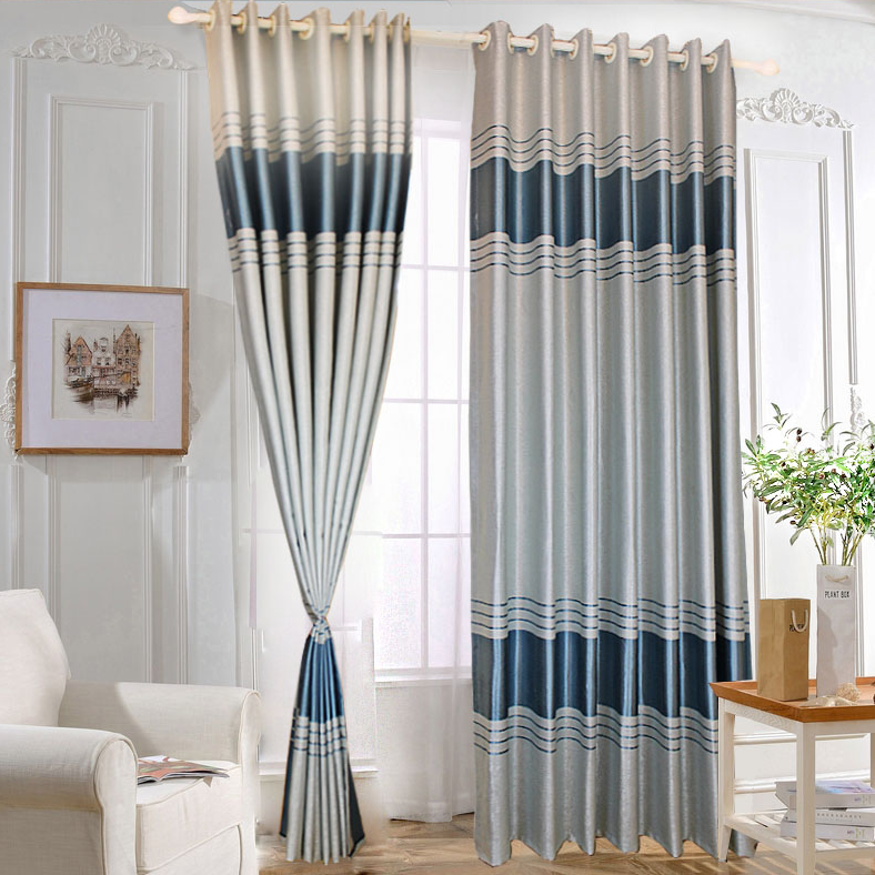 Professional fireproof manual window fabric curtain in Korea style