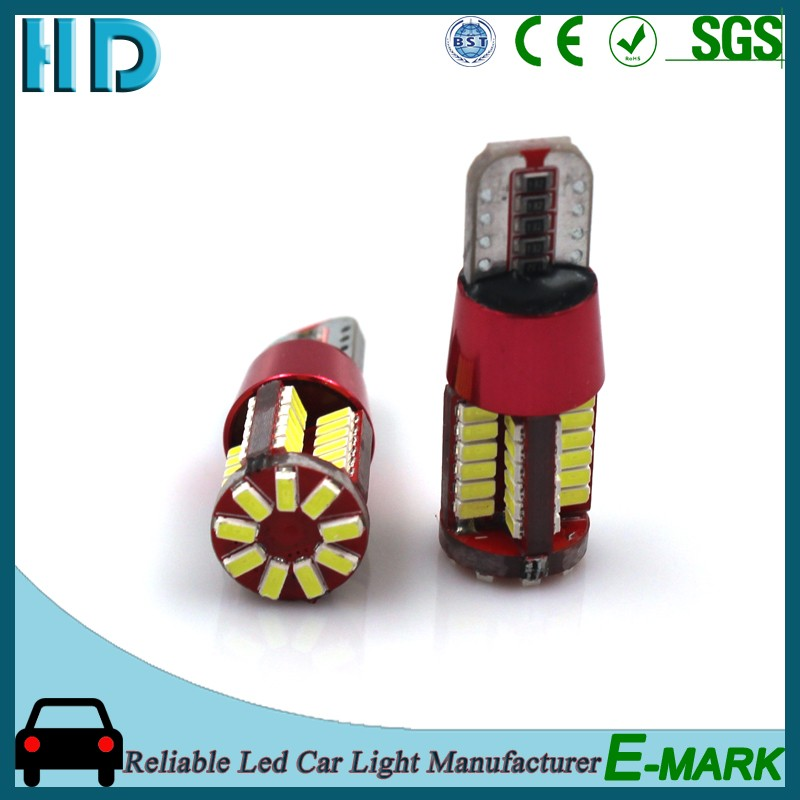 High quality and power 12v auto light bulb led t10 5w 57 SMD 4014 led car light t10 canbus led car bulb