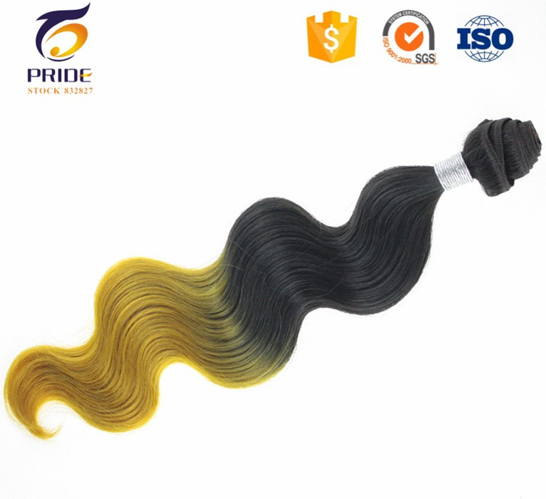 High quality soft virgin human and synthetic blend hair,brazilian virgin hai body wave